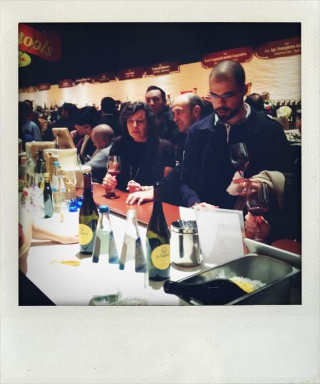Visitatori e degustazione olio La Maliosa Taste Firenze 2013